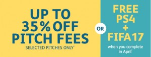 up to 35% off pitch fees