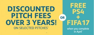 reduced pitch fees for 3 years
