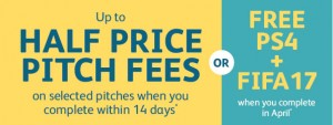 half price pitch fees in April